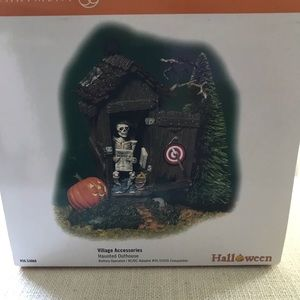 Retired Dept 56 Haunted Outhouse